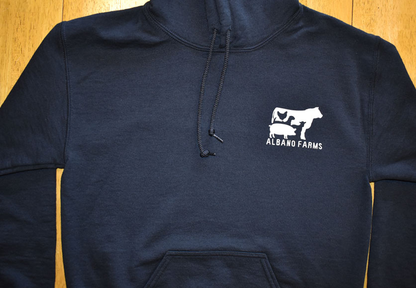 albano hoodie front